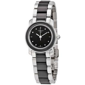 Reloj Tissot T-trend Black Ceramic Diamond Mujer T064210220