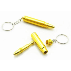 Dosador Bullet Snuff De Alumínio Para Rapé Chaveiro