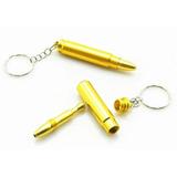 Dosador Bullet Snuff De Alumínio Para Rapé Chaveiro - 6 Unid