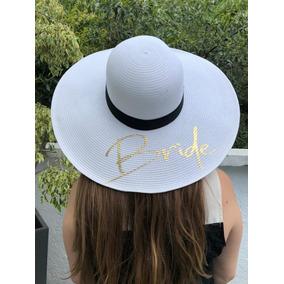 Sombrero Playa Grande Bride Novia En Dorado