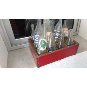 Cajón Antiguo Botellas De Agua, Algunas Repetidas Excelente