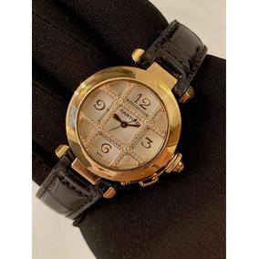 2487b41167f Cartier Pasha Lady De Ouro Amarelo Com Diamantes ! Completo