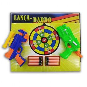 Kit Com Pistola Lança Dardo Com Alvo E 6 Dardos Na Caixa 1e97999b52165