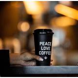 Vaso Negro Reusable Starbucks Peace, Love, Coffee