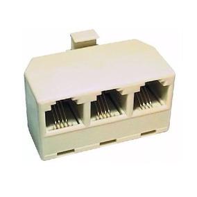 Conector Rj11 De 3 Salidas Para Teléfono, Fax, Módem