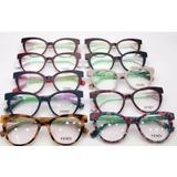 118fdf4ff63a2 Óculos Armação De Grau Acetato Gatinho Geek + Frete