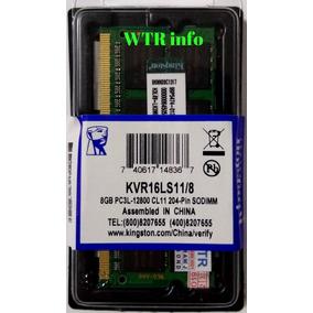 Memória Kingston Ddr3l 1600mhz 8gb Note/mac 1 Pente