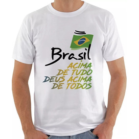 Bolsonaro Camiseta Camisa Brasil Acima De Tudo Deus Acima De. 4 cores af56990c33dc9