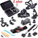 13 En 1 Kit Case Y Accesorios Para Camaras Go Pro Y Sj 4000