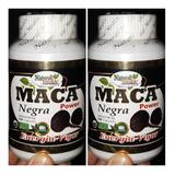 Maca Negra Peruana 100% Vitalidad Potencia 2 Frascos 200 Cap