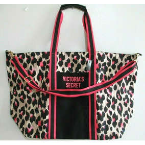 Victorias Secret Bolsa Tote Leopardo Rosa Negro Amyglo