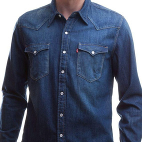 Camisa Jeans Levis Barstow Western Lavagem Média 58d379133a2