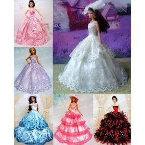Vestido Casamento Noiva Festa Pra Boneca Barbie * Véu + Luva