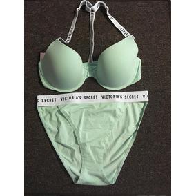 Victoria Secret Tshirt Bra Demi 34c Bikini M Manzana Verde