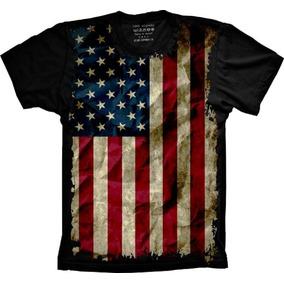 2baa522a29 Camiseta 5%off Plus Size Bandeira Eua United States Of Ameri