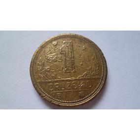Escassa Moeda 1 Cruzeiro 1943 (mbc) Com Sigla Wt