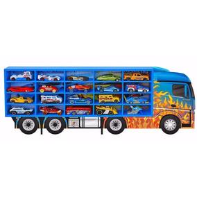 Hot Wheels Porta Carrinho Madeira Para Colecionar