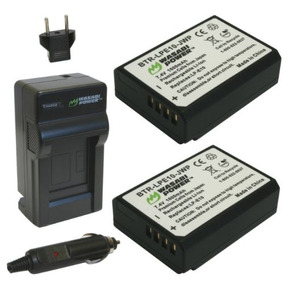 Wasabi Power Battery (2-pack) And Charger For Canon Lp-e10 A