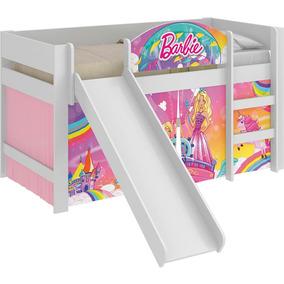 Cama Infantil Escorregador Barbie Dreamtopia Play Rosa Pura