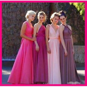 Vestidos de fiesta largos color bugambilia