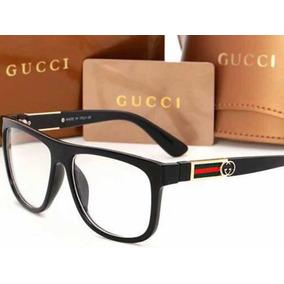 9a1f2f1a63821 Armação Para Óculos De Grau Gucci Preta - Óculos no Mercado Livre Brasil