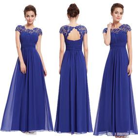 Vestidos de fiesta color azul francia