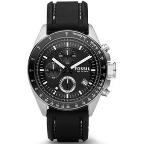 Reloj Fossil Ch2573ie Caballero Plateado Caucho Negro