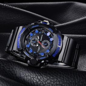 17b7b6e27dc Relogio G Shock Protection Preto E Azul - Relógios no Mercado Livre ...