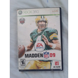 Xbox 360 Juego Nfl Madden 09 Futbol Americano Usado Ingles
