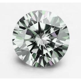 Moissanita Blanca/verde 0.30 Ct 4.38mm Mossainite Diamante