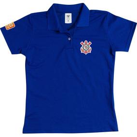 1fa3c2f566 Camisa Polo Feminina Corinthians Baby Look Especial Preto
