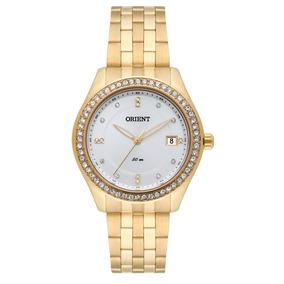 71608719e64 Relógio Feminino Orient Com Pedras Dourado Fgss1029 - Relógios De ...