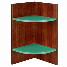 Prateleira Canto Modular Hinz Maxima Cacau verde Anis Cj por Madeira Madeira d3a7dea607