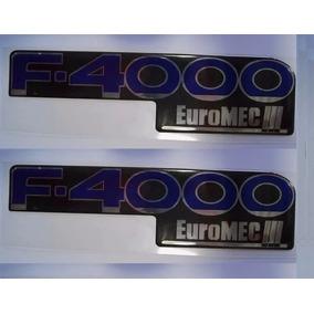 Par Emblema Adesivo Resinado Ford F4000 Euromec Iii