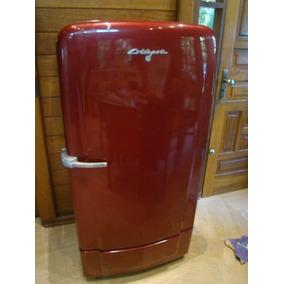 Geladeira Antiga Coldspot Decada De 40 Vermelha Metalica