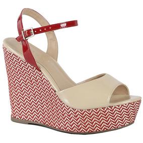 11048eb35 Sandalia Anabela Branca Via Marte - Sapatos Nude no Mercado Livre Brasil
