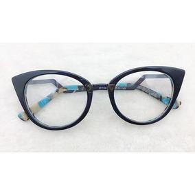 fa8fb353d88b1 Armação Óculos Grau Estilo Gatinho Feminino Frete Gráti A001