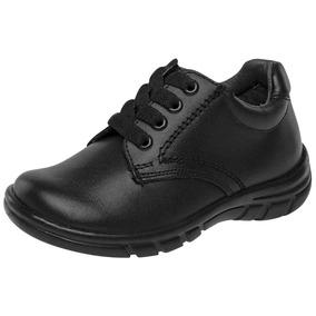 Zapato Escolar Choclo Niño Wos E-123 Negro 15-25 N61869 T3