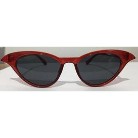 ba59ae1467004 Óculos De Sol Feminino Vermelho Vintage Retro - Óculos De Sol no ...