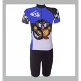 c6ee56b123 Conjunto Ciclismo Infantil - Roupas para Ciclismo no Mercado Livre ...