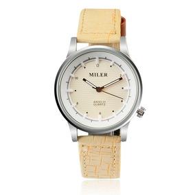 88c6250e686 Relógio Feminino Miler A8293 Pulseira De Couro Frete Grátis
