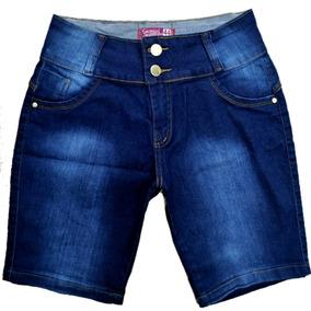 Roupas Femininas Bermuda Jeans Plus Size Com Lycra 36 Ao 54