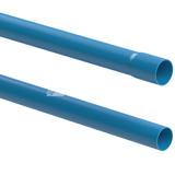 Tubo De Pvc Azul Irrigação 50mm Pn 40 Kit C/ 70 Canos 6 Mts