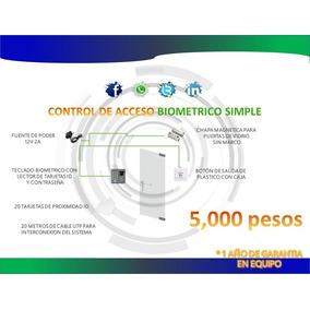 Control De Acceso Puerta De Vidrio