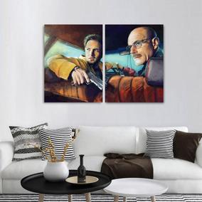 Quadro Heisenberg Pinkman Art Decorativo Em Tecido