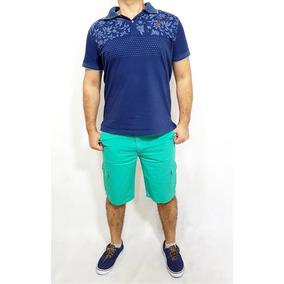 Bermuda Jeans Slim Masculina Plus Size Com Elastano