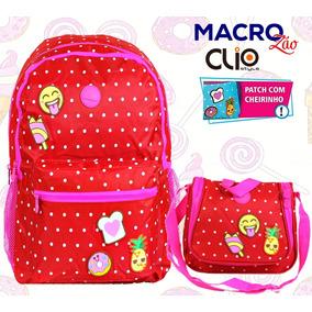 Mochila Emoji Poá Ck9243j Summer Fun + Lancheira Clio