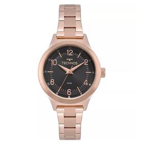Relógio Feminino Rose Com Fundo Preto - Relógios De Pulso no Mercado ... bb50ff879d