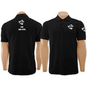 Camisa Polo Personalizada 5pçs Bordado Peito e82b952d16bf4