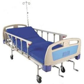 Camilla Cama Hospital Manual Colchon C/partes Porta Suero,